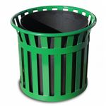 "Witt Outdoor Planter 27"" Green Steel W-MPL2724-GN"