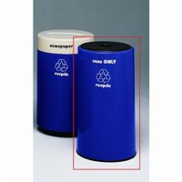 Witt Indoor Recycling Container 21 Gal. Fiberglass for Paper W-11R-1630PSP