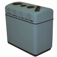 Witt Indoor Recycling Containers 48 Gal. Fiberglass with Round Edges W-11RR-481631