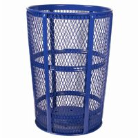 Witt Outdoor Expanded Metal Receptacle 48 Gal. Blue Steel W-EXP-52BL