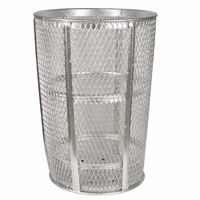 Witt Outdoor Expanded Metal Receptacle 48 Gal. Galvanized Steel W-EXP-52