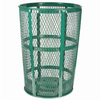 Witt Outdoor Expanded Metal Receptacle 48 Gal. Green Steel W-EXP-52GN