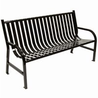 Witt Outdoor Full Bench Black Steel 5 Foot W-M5-BCH-BK