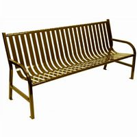 Witt Outdoor Full Bench Brown Steel 6 Foot W-M6-BCH-BN