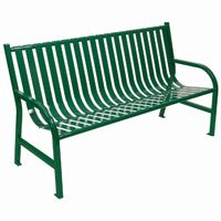 Witt Outdoor Full Bench Green Steel 5 Foot W-M5-BCH-GN