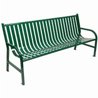 Witt Outdoor Full Bench Green Steel 6 Foot W-M6-BCH-GN