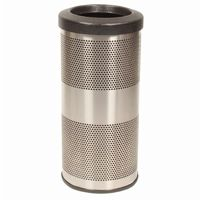 Witt Outdoor Perforated Receptacle 10 Gal. Stainless Steel W-SC10-01-SS