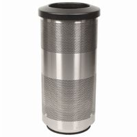 Witt Outdoor Perforated Receptacle 20 Gal. Stainless Steel W-SC20-01