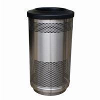 Witt Outdoor Perforated Receptacle 35 Gal. Stainless Steel W-SC35-01-SS-FT