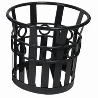 "Witt Outdoor Planter 22"" Black Steel - Decorative W-PL2220-BK"
