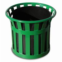 "Witt Outdoor Planter 22"" Green Steel W-MPL2220-GN"