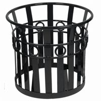 "Witt Outdoor Planter 27"" Black Steel - Decorative W-PL2724-BK"