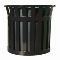 "Witt Outdoor Planter 27"" Black Steel W-MPL2724-BK"