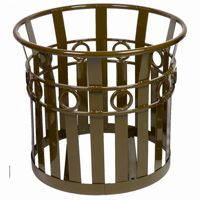 "Witt Outdoor Planter 27"" Brown Steel - Decorative W-PL2724-BN"
