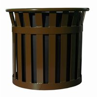 "Witt Outdoor Planter 27"" Brown Steel W-MPL2724-BN"