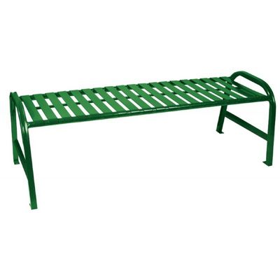 Witt Backless Outdoor Bench Green Steel 5 Feet Straight W-M5-BBS-GN