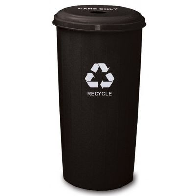 Witt Indoor Can Collector 20 Gal. Recycle Black Steel W-10-1DTBK