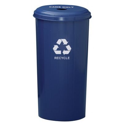 Witt Indoor Can Collector 20 Gal. Recycle Blue Steel W-10-1DTDB