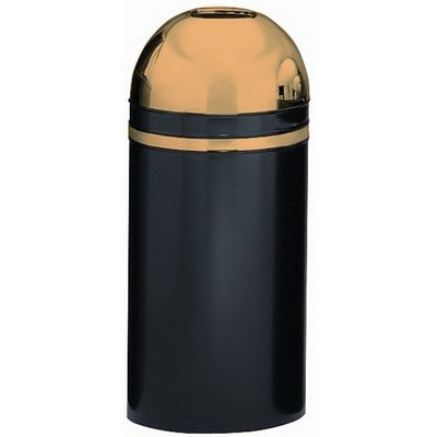 Witt Indoor Dometop 15 Gal. Black with Brass Accents Steel with Open Top W-415DT-11