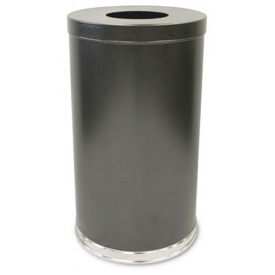 Witt Indoor Flat Top Receptacle 35 Gal. Silver Vein (Granite) Steel W-35FTSVN