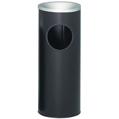 Witt Indoor/Outdoor Ash 'n Trash 3 Gal. Black Steel W-3000BK