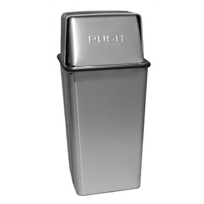 Witt Indoor Pushtop Receptacle 36 Gal. Stainless Steel Stainless Steel W-36HTSS