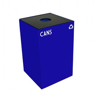 Witt Indoor Recycling Container 24 Gal. Blue Steel for Cans W-24GC01-BL