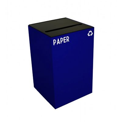 Witt Indoor Recycling Container 24 Gal. Blue Steel for Paper W-24GC02-BL