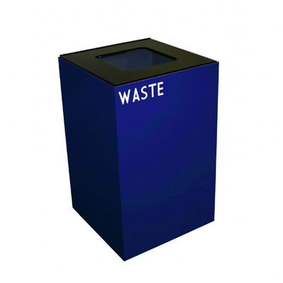 Witt Indoor Recycling Container 24 Gal. Blue Steel for Waste W-24GC03-BL