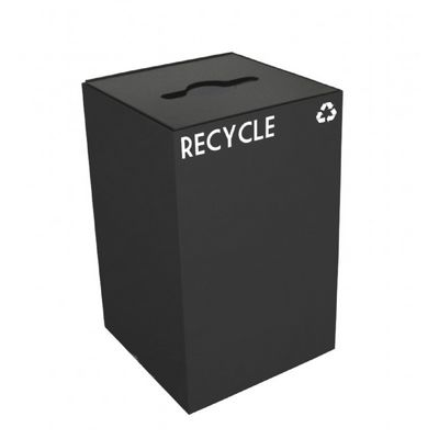 Witt Indoor Recycling Container 24 Gal. Charcoal Steel W-24GC04-CB