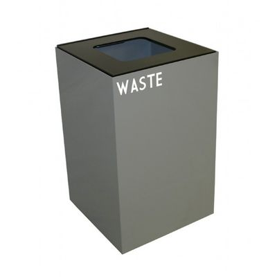 Witt Indoor Recycling Container 24 Gal. Slate Steel for Waste W-24GC03-SL