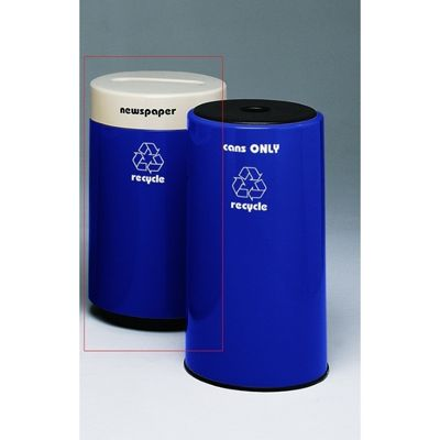 Witt Indoor Recycling Container 25 Gal. Fiberglass for Cans W-11R-1831CSP