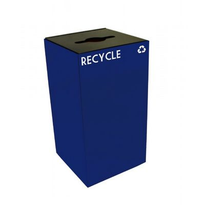 Witt Indoor Recycling Container 28 Gal. Blue Steel W-28GC04-BL