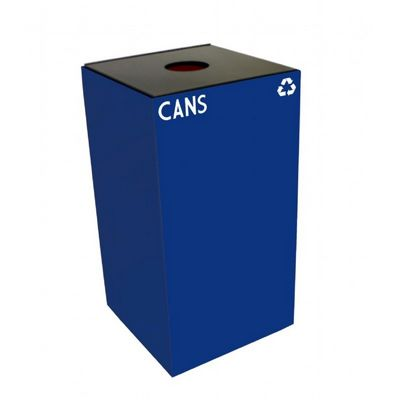 Witt Indoor Recycling Container 28 Gal. Blue Steel for Cans W-28GC01-BL