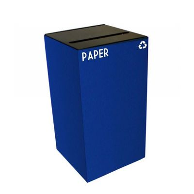 Witt Indoor Recycling Container 28 Gal. Blue Steel for Paper W-28GC02-BL