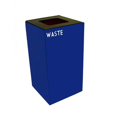 Witt Indoor Recycling Container 28 Gal. Blue Steel for Waste W-28GC03-BL