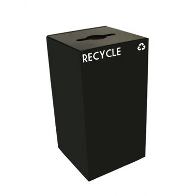 Witt Indoor Recycling Container 28 Gal. Charcoal Steel W-28GC04-CB