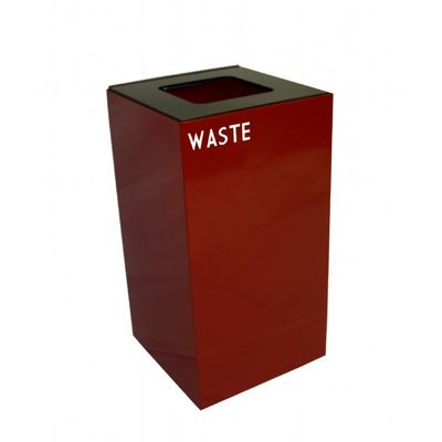 Witt Indoor Recycling Container 28 Gal. Scarlet Steel for Waste W-28GC03-SC