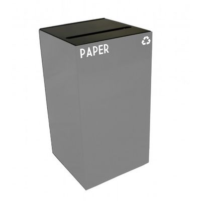 Witt Indoor Recycling Container 28 Gal. Slate Steel for Paper W-28GC02-SL