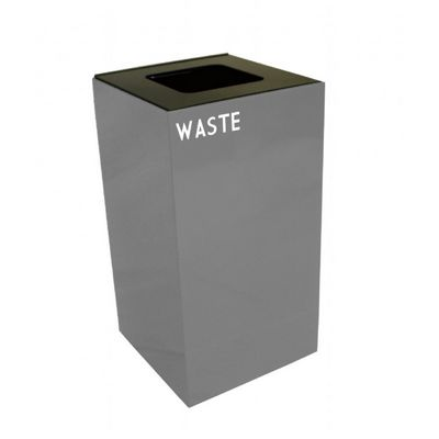 Witt Indoor Recycling Container 28 Gal. Slate Steel for Waste W-28GC03-SL