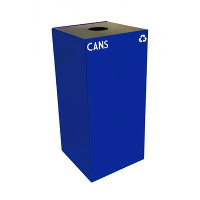Witt Indoor Recycling Container 32 Gal. Blue Steel for Cans W-32GC01-BL