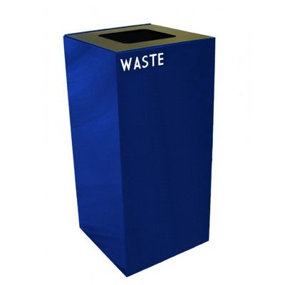 Witt Indoor Recycling Container 32 Gal. Blue Steel for Waste W-32GC03-BL