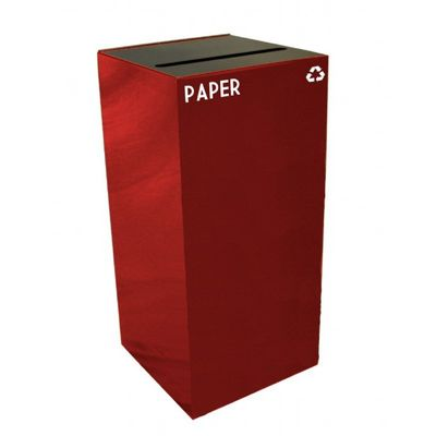 Witt Indoor Recycling Container 32 Gal. Scarlet Steel for Paper W-32GC02-SC