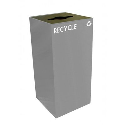 Witt Indoor Recycling Container 32 Gal. Slate Steel W-32GC04-SL