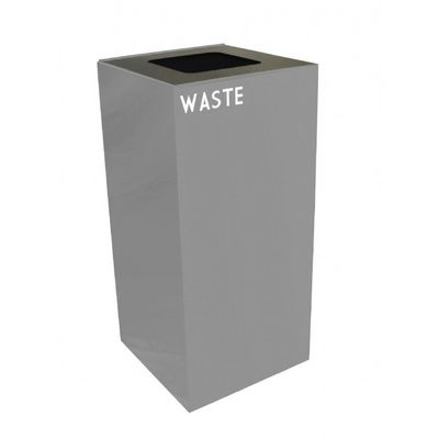 Witt Indoor Recycling Container 32 Gal. Slate Steel for Waste W-32GC03-SL
