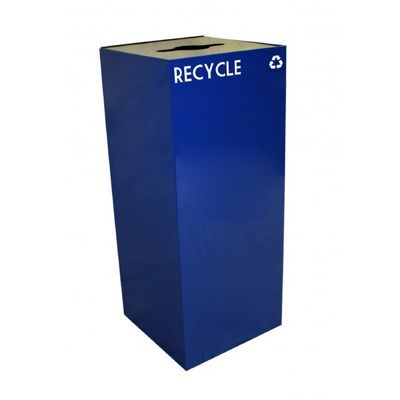 Witt Indoor Recycling Container 36 Gal. Blue Steel W-36GC04-BL