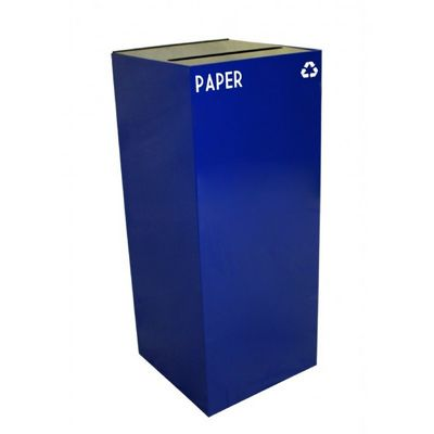 Witt Indoor Recycling Container 36 Gal. Blue Steel for Paper W-36GC02-BL
