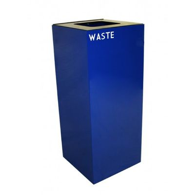 Witt Indoor Recycling Container 36 Gal. Blue Steel for Waste W-36GC03-BL
