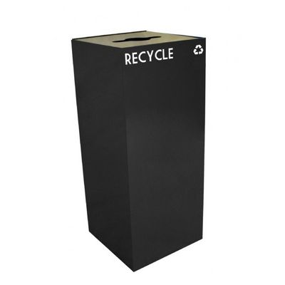 Witt Indoor Recycling Container 36 Gal. Charcoal Steel W-36GC04-CB