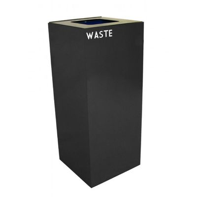 Witt Indoor Recycling Container 36 Gal. Charcoal Steel for Waste W-36GC03-CB